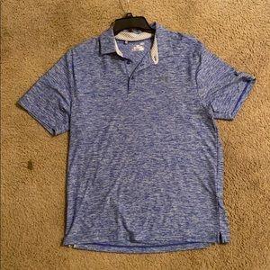 Men's blue/white Under Armour golf shirt